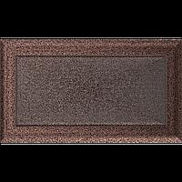 Вентиляционная решетка Kratki Oskar 17x30 см медная без жалюзи, фото 1