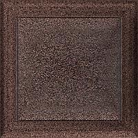 Вентиляционная решетка Kratki Oskar 22x22 см медная без жалюзи, фото 1