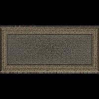 Вентиляційна решітка Kratki Oskar 17x37 см чорне золото без жалюзі, фото 1