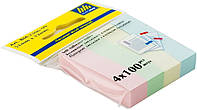 Закладки бумажные 51х12мм, 4цв.х100 лист.