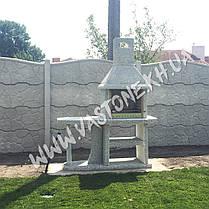 Камин барбекю садовый «Каир» со столом, фото 3