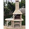 Камин барбекю садовый «Каир» со столом, фото 4