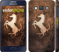 """Чохол на Samsung Galaxy A3 A300H Логотип Феррарі на шкірі """"133c-72"""""""