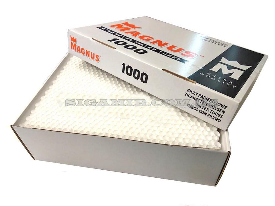 Сигаретные Гильзы Для Набивки сигарет Табаком Magnus 1000 штук