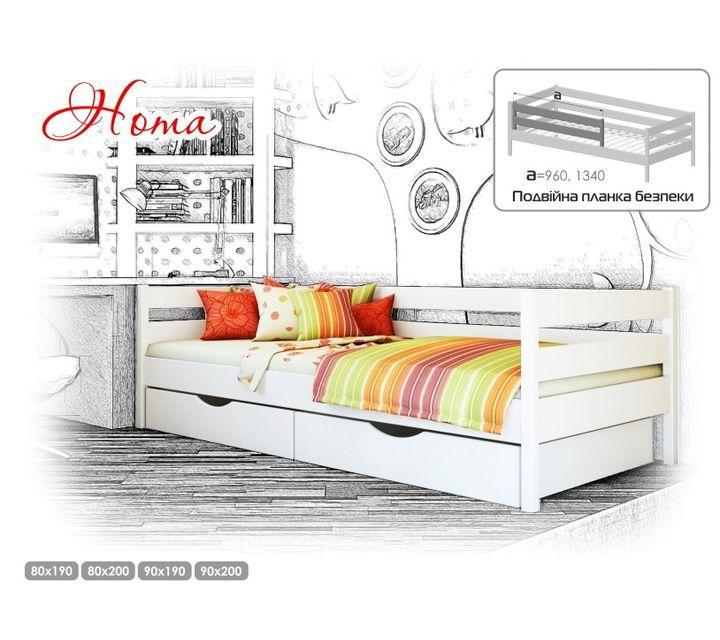 Деревянная кровать Нота Щит 80х190 см. Эстелла