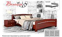 Деревянная кровать Венеция Щит 80х190 см. Эстелла