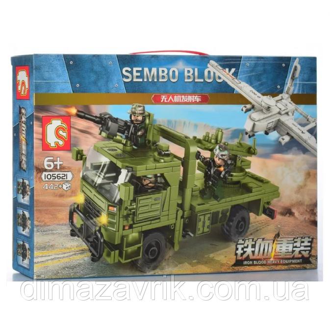 "Конструктор Sembo 105621 ""Транспортно-пусковая установка с БПЛА""442 детали"