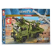 "Конструктор Sembo 105621 ""Транспортно-пусковая установка с БПЛА""442 детали, фото 1"