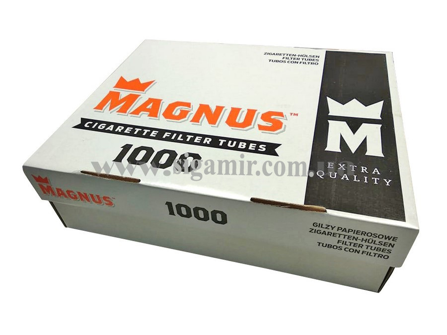 Гильзы для Набивки Сигарет Табаком Magnus 1000 шт / сигаретные гильзы