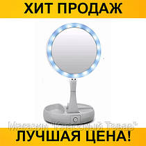 Зеркало для макияжа с LED и увеличением 10x