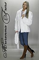 Женская шуба из искусственной норки, Белая норка № 15