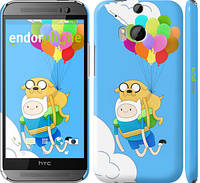 "Чехол на HTC One M8 dual sim Adventure time. Finn and Jake v3 ""2453c-55"""