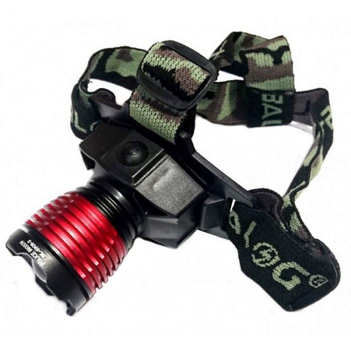 Налобный фонарь POLICE BL-6908-2 Светодиод Q5 фонарик 500 Lumen + Ультрафиолет