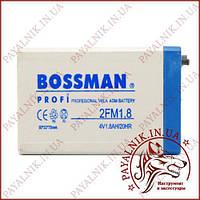 Аккумулятор свинцово-кислотный Bossman 4V 1.8AH/20HR (75*50*22)
