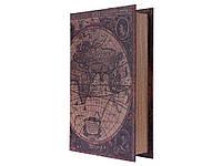 Книга тайник Карта мира M 26 см х 17 см х 4,5 см размер M 26 см х 17 см х 4,5 см