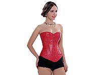 Сексуальный корсет Aphrodite из искусственной кожи L  Красный