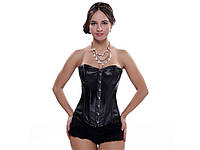 Сексуальный корсет Aphrodite из искусственной кожи М  Черный