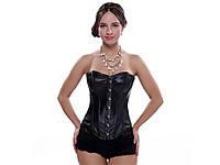 Сексуальный корсет Aphrodite из искусственной кожи S  Черный