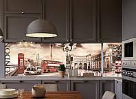 Наклейки кухонный фартук Zatarga Лондонская площадь  600х2500 мм коричневый