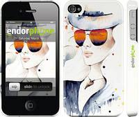 """Чехол на iPhone 4s Девушка """"2869c-12"""""""