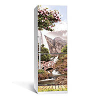 Наклейка на холодильник Япония ( (виниловая наклейка, самоклейка, оклеить холодильник, декор кухни)