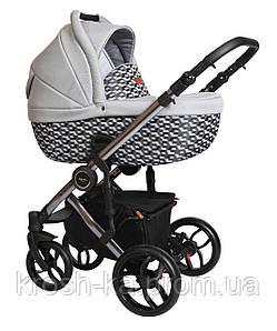 Коляска трансформер 2 в 1 BEBELLO LIMITED Edition Baby Merx Польша серый рисунок B\145