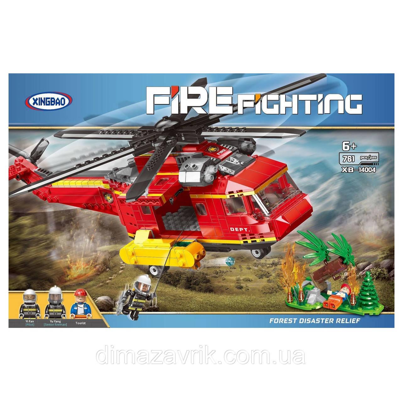 """КонструкторXingBao XB-14004 """"Пожарный вертолет""""761 деталь"""