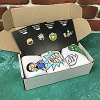 Подарочный Бокс City-A Box #69 для Мужчин и Женщин с Носками Набор Sox Рик и Морти из 7 ед.