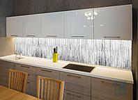 Кухонный фартук Текстура 01 (наклейка интерьерная на стену, текстура дерево, белый забор текстура, виниловая) 600х2500мм, 600мм