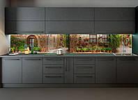 """Наклейки кухонный фартук Zatarga"""" Улицы Прованса"""" 600х2500 мм коричневый"""