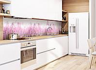"Наклейки кухонный фартук  Zatarga  ""Луг"" 600х2500 мм розовый"