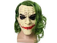 Маска Джокер з зеленими волоссям латексна Джокер