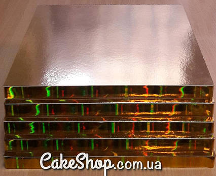 Подложка под торт усиленная 30х30 Золото