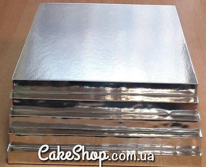 Подложка под торт усиленная 30х30 Серебро