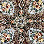 Сибирская красавица 1873-10, павлопосадский платок шерстяной  с шелковой бахромой, фото 2