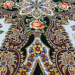 Сибирская красавица 1873-10, павлопосадский платок шерстяной  с шелковой бахромой, фото 7