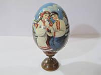 Яйцо расписное на подставке дерево (бук), юні закохані