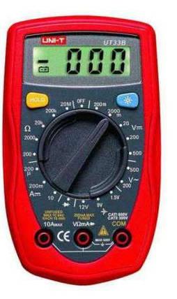 DIGITAL Цифровой мультиметр тестер DT33B+подсветка DT-33B Универсальный тестер Измерение напряжения или тока, фото 2