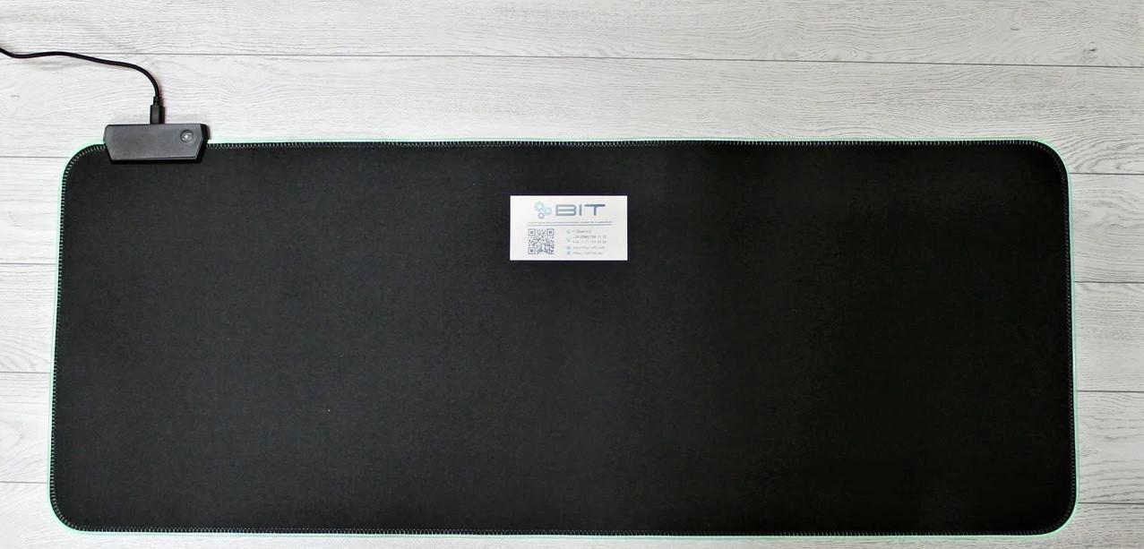 Коврик для мышки RGB L-780 (30*78*0.3) ЧЕРНЫЙ с подсветкой (в коробке)
