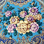 Сибирская красавица 1873-11, павлопосадский платок шерстяной  с шелковой бахромой, фото 4