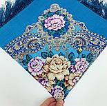 Сибирская красавица 1873-11, павлопосадский платок шерстяной  с шелковой бахромой, фото 6