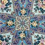 Сибирская красавица 1873-11, павлопосадский платок шерстяной  с шелковой бахромой, фото 2