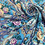 Сибирская красавица 1873-11, павлопосадский платок шерстяной  с шелковой бахромой, фото 5