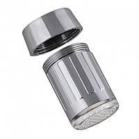 Насадка на кран Ginetarr 021 контроль температуры LED подсветка Хром (2929-9137а)