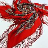 Морская царевна 1892-5, павлопосадский платок шерстяной (двуниточная шерсть) с шелковой вязаной бахромой, фото 4