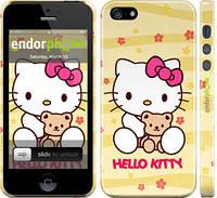 """Чехол на iPhone 5s Hello kitty. Yellow """"681c-21"""""""