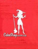 Трафарет для пряников Ведьма1
