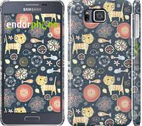 """Чехол на Samsung Galaxy Alpha G850F Котята v4 """"1224c-65"""""""