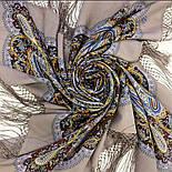 Морская царевна 1892-16, павлопосадский платок шерстяной (двуниточная шерсть) с шелковой вязаной бахромой, фото 6