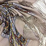 Морская царевна 1892-16, павлопосадский платок шерстяной (двуниточная шерсть) с шелковой вязаной бахромой, фото 7